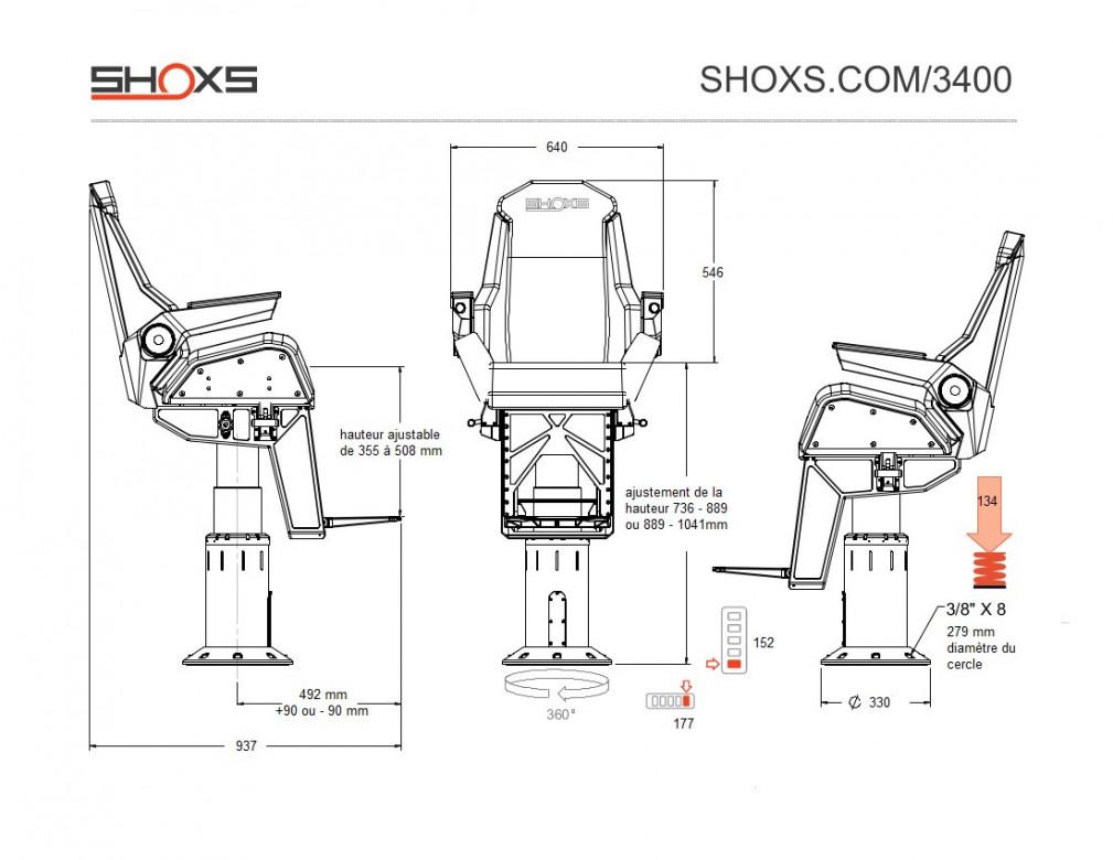 SIEGE SHOXS 3400 X8