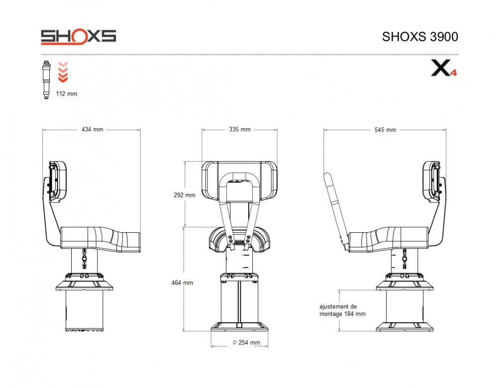 SIEGE SHOXS 3900 X4