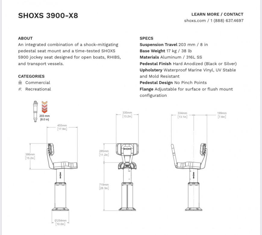 SIEGE SHOXS 3900 X8